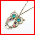 wholesale vintage charms Fashion Hollow Cute Owl Necklace 24pcs/lot  Free Shipping