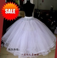 whosale&retail 6 layer Bridal petticoat,wedding petticoat,wedding dress petticoat+Freeshipping