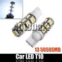 W5W 501 194 168 T10 LED Side Light 13 SMD 100 PCS/Lot DHL Free Shipping!