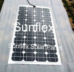 2pc 100W semiflexible Solar Panel,Protable and Light Weight ,100% Guarantee, Cheapest Price(China (Mainland))