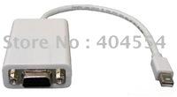 Free Fast Shipping 30pcs Mini DisplayPort to VGA Cable Mini dp to vga Convertor Adapter For MACBOOK