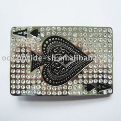 Belt Bucke (Spade Rhinestones Casino Poker Card)(China (Mainland))