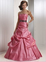 free shipping promoting hot sell ball gown taffeta sexy evening  dress / eveving gown/ party dress /prom dress