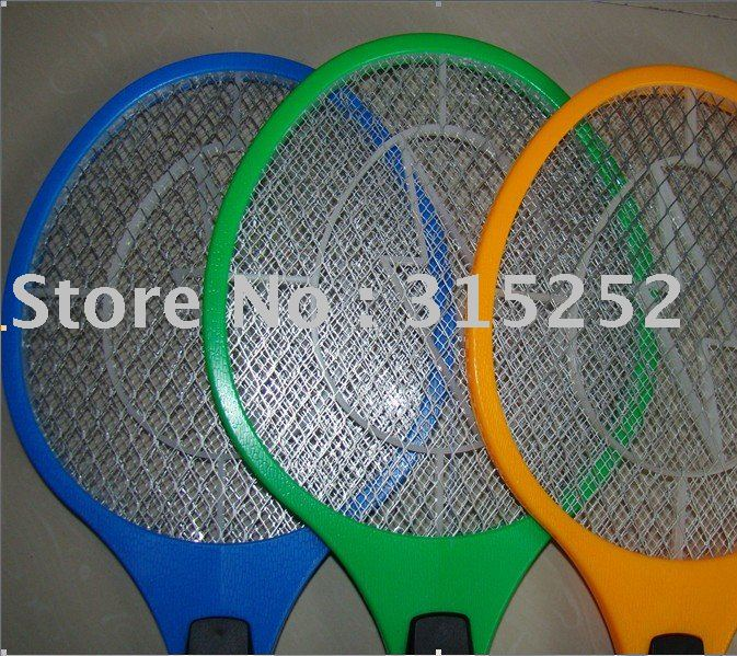 TOP sell rechargable mosquito swatter,large mesh film mosquito swatter,three tier security,free shipping(China (Mainland))