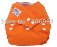 orange babyland snaps cloth  50 diapers +50inserts