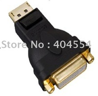 Free Fast Shipping 30pcs Displayport DP Male To DVI Female Connetor Adapter Converter with Retail Box