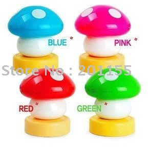 50pcs/lot,led touch mushroom led nightlight,Led Colorful Mushroom Press Down / Touch Lamp Night Light(China (Mainland))