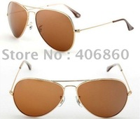 1pc free shipping Men's sunglasses Gold frame brown Lens Man's/Woman's sunglasses