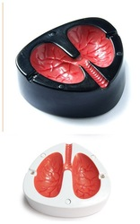 Free shipping/Funny Coughing Screaming Lung Quit Smoking Ashtray(China (Mainland))