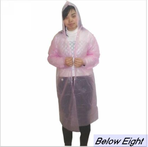 Wholesale-Free Shipping High quality Disposable PE Rain Poncho/One Time Raincoat/JJ-007(China (Mainland))