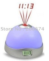 Colorful Magic Projection Clock  free shipping clock