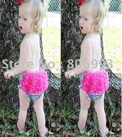 baby girls lace panties zebra  bloomers