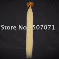 "18""nail tip human hair Extensions 100s #613 lightest blonde,0.7g/s"