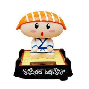 free shipping,solar shake doll Salmon sushi Tai long series vehicle-mounted toy(China (Mainland))