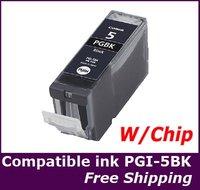 1x Ink cartridge PGI-5Bk PGI5BK PGI-5 PGI-5 bk chipset for Canon MP800/MP800R/MP810/MP830/MP950/MP960/MP970