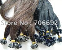 24inch #8 100g Indian Prebonded Utip Nail Hair Remy Hair Extensions Human Hair 1g/strand 100s High Quality