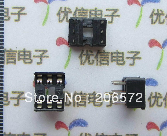 IC socket Chip socket 6pin DIP pins New products and ROHS(China (Mainland))
