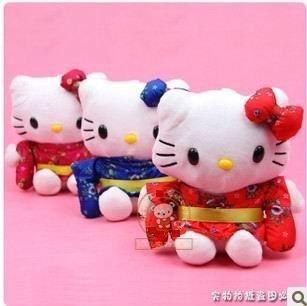 Free Shipping,3 pcs /lot,Hello Kitty in Kimono,Plush Toys,Stuffed Toys,Car accessary.