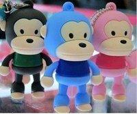 Monkey mouth U disk 4G USB 2.0 Stick/Creative USB drive/ U disk 4GB USB memory flash drive Free Shipping Best Selling Cartoon