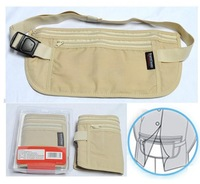 Free Shipping-Travel Gear Hidden Pocket Money Bag Money Belt Travel Pouch Passport bag Passport Case Security Money Belt(L size)