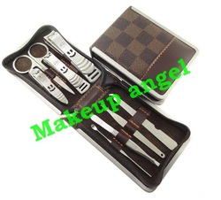 Wholesale 8 IN 1 Luxury Manicure Grooming Set Nail clippers set Pedicure Set Kit Tool Nail Cuticle Clipper Tweezers (30set/lot)(China (Mainland))
