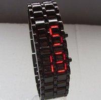 Red LED Digital Watch Lava Style Men Sports Watch N1 B