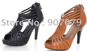 Pinkfans female shoe box calf in the type Rome watertightness pedestal fish mouth Gao Gen sandals