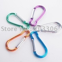 2000pcs/lot Hoist shape aluminium carabiner Mountaineering buckle Key Chain Hook 6CM 8colors