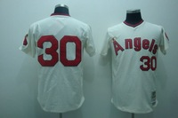 Free shipping- Los Angeles Angels 30# Nolan Ryan cream jersey,Los Angeles Angels jerseys,baseball jerseys