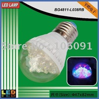 TOP quality,38led 2W RGB led flashing light bulb,color changing led bulb use on holidays