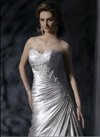 short sleeve wedding gowns Free Shipping 2011 new Best selling high fashion dress