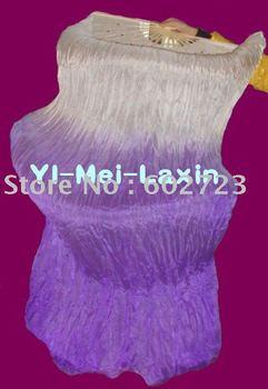 10pcs/lot free shipping brand new dance fan veil/belly dance fan veil/silk 2 colors fan veil
