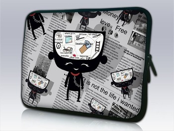 "EMS Free,Cartoon Kid Design Laptop Sleeve Case,Notebook Cover Bag,Computer Carring Protect Case For 10""13""14""15""17""Samsun HP"