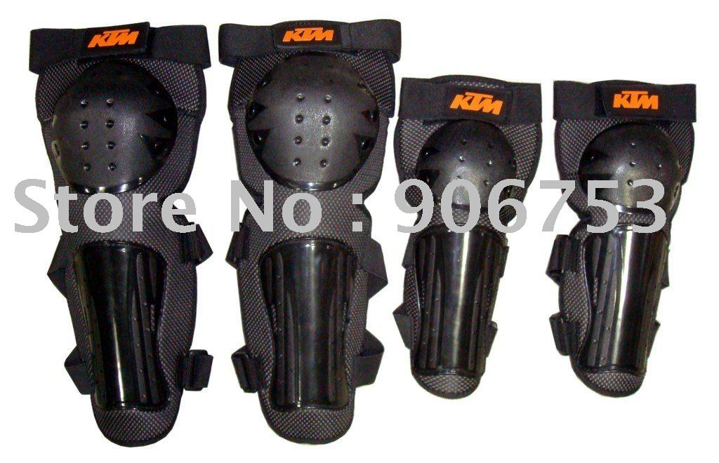 free sample motorcycle thermal KTM elbow and knee protectors Black color Free Size