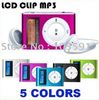 FREE shipping Mini Clip MP3 Player With LCD Screen support TF card up to 32GB