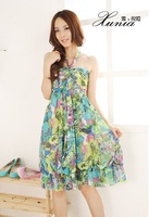 Женское платье 1 pc 104 # 2012 new summer dress chiffon long dress