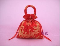 100pcs /lot Satin gift bag, candy bag, 13*16cm purple wedding gift box, wedding favors