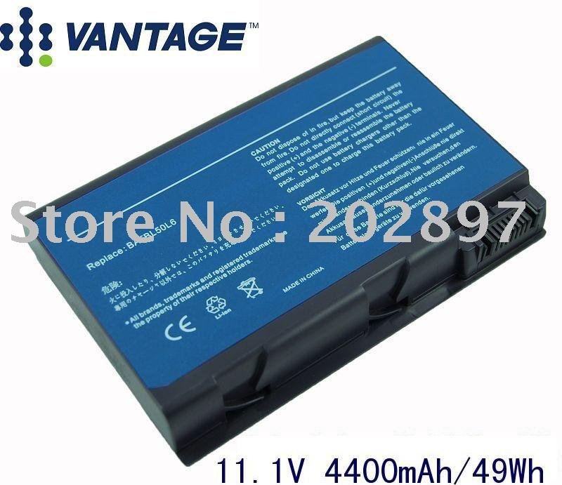 Replacement Aspire 3100 3690 5100 5610 9110 Laptop Battery BATBL50L6H BATBL50L8H Battery(China (Mainland))