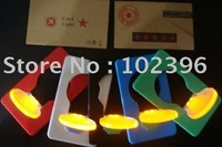 Wholesale - 200pcs GLOBAL HOT-SALE Christmas gift Portable Pocket LED Card Light Lamp put in Purse Walletv christmas gifts
