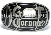 GOT Corona? bottle opener men boy belt buckle wholesale in 100pcs & Free shipping by EMS