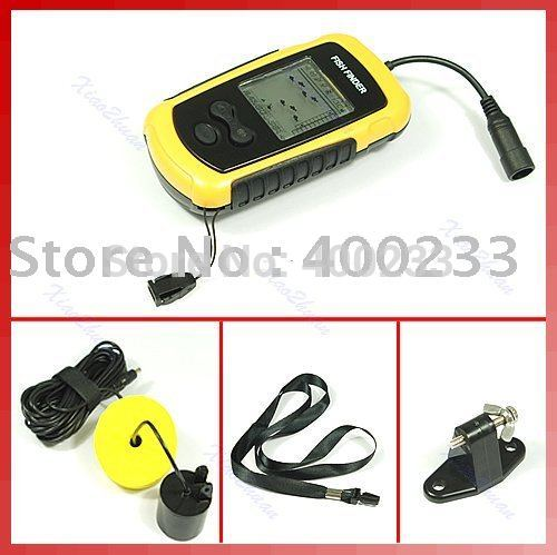 Free Shipping Depth Sonar Big LCD Fish Finder FishFinder Alarm 100M promotion(China (Mainland))