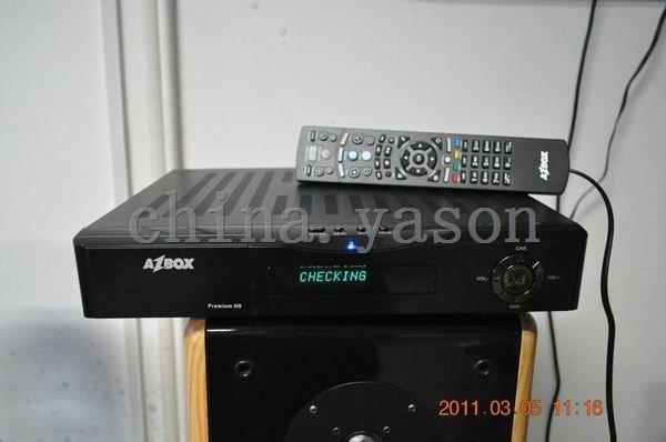 Hot selling AZBOX HD premium satellite receiver(China (Mainland))