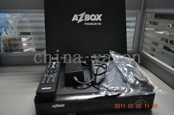 Hot selling AZBOX premium HD (Gemini2 HD System) receiver(China (Mainland))