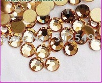 SS6(2mm)--High Shine 1440pcs/bag Crystal yello /Nail rhinestones flat back/ nail art/ decal diamond