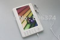 Free shipping&white Digital Pocket Edition 4G 7 Inch  Ebook Reader
