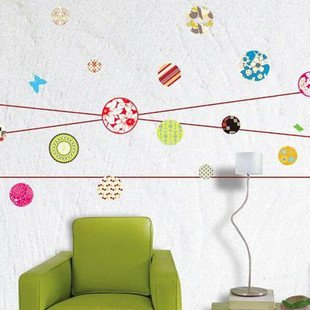 Figure dot wall sticker NO.58026 ceramic tile sticker glass sticker