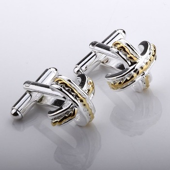 Guaranteed 100% New 925 silver jewelry silver-plated fashion X shape cufflink cuff link FC22