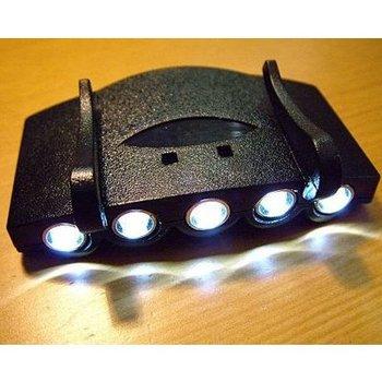 5 LED Cap Light White Light LED Flashlight headlamp for Camping Fishing Running  free shipping wholesale