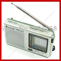 Free shipping! Pocket Radio Superheterodyne KK9 TV FM AM SW17 Receiver