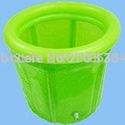 Portable outdoor bathtub with green color